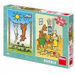 Puzzle Pejsek a Kočička 2x48 dílků 18x26cm