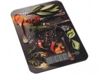 váha kuchyňská plochá 5kg digitální, tvrz. sklo, KOŘENÍ - mix variant či barev