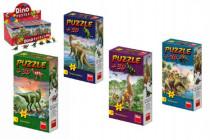 Dino puzzle Dinosauři + Figurka 60 dílků - mix variant či barev