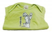 Dětské body Mayaka s krátkým rukávem Climbing - zelené Vhodné pro věk 3-6 měsíců - VÝPRODEJ