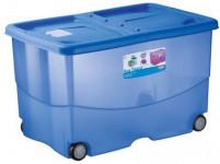 box úložný TRENDYCOLOR 57l, 60x40x36cm na koleč. s víkem plastový, MO, RŮŽ