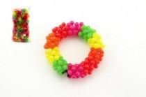 Náramek korálkový plast - mix barev
