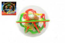 Hlavolam Bludiště koule 3D 100 kroků plast 17cm