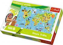 Vzdělávací puzzle mapa světa 100 dílků 60x40cm
