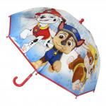 Dětský manuální deštník Tlapková patrola průsvitný