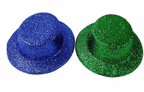 Klobouk party se třpytkami plast 29cm karneval - mix barev