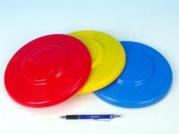 Létající talíř plast průměr 23cm barev 12m+ - mix variant či barev