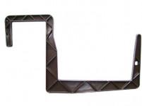 Držák na truhlík balkon - S hranol hnědý 12 cm