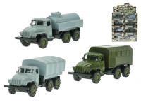 Nákladní vozidlo vojenské kov 12 cm 1:55 zpětný chod - mix variant či barev