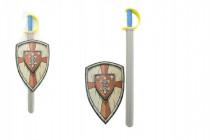 Meč pěnový se štítem 75cm