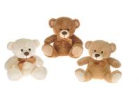 Medvídek/Medvěd plyš 22cm s mašlí - mix barev