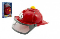 Helma přilba hasič plast 28cm na baterie se světlem se zvukem