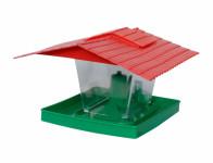 Krmítko NECKAR plastové červeno zelené 23x14cm
