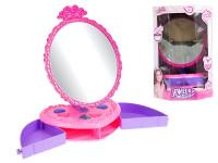 Zrcadlo stolní 24 cm s přihrádkami na šperky