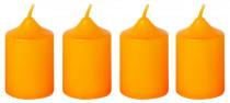 Svíčka adventní 40x60 mm - oranžová - 4 ks