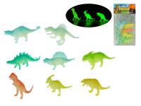 Dinosaurus svítící ve tmě 11-18 cm 8 ks