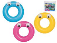 Kruh nafukovací velké oči 91 cm - mix barev