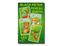 Černý Petr/Pexeso/Dueto les 3 v1 7x10,5x1,5 cm 31 ks