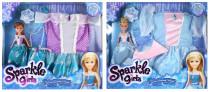 Panenka Princezna Sparkle Girlz zimní + šatičky
