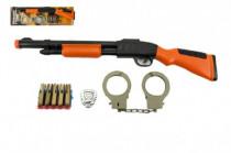 Sada pistole+pouta+náboje na přísavky plast 50cm