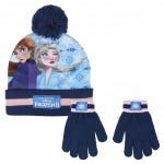 Sada rukavice, čepice s bambulí - Ledové království 2