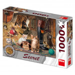 Puzzle Kočky 14 skrytých detailů 1000 dílků 66x47cm