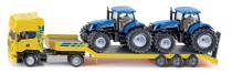 SIKU Farmer - Scania s přívěsem a 2 traktory New Holland T7070, 1:50 - VÝPRODEJ