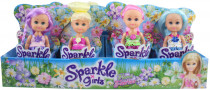 Víla Sparkle Girlz květinová s křídly malá v kornoutku