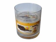 svíčka vonná sklo VANILKA 130g (hoří 26hod)