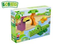 BiOBUDDi stavebnice Wildlife Lagoon zvířátka 25 ks