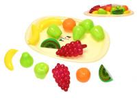 Sada ovoce 15 ks s podnosem 32 cm