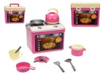 Přenosný kuchyňský set Adele - sporák s nádobím