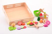 Dřevěný salátový set s tácem