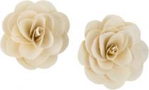 Dekorace - Wood Petal Deco Rose 6 cm bělené - 2 ks