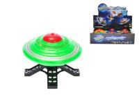 UFO 10 cm na setrvačník na baterie se světlem - mix barev