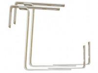 držák truhlíků balkon.17x10,5-20cm nastavitelný kov. (2ks) - VÝPRODEJ