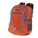 Easy flow 837985 Batoh školní dvoukomorový, oranžový, profilovaná záda, 26 l