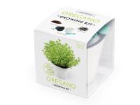 Vypěstuj si OREGANO, samozavlažovací květináč bílý 10x10 cm, Domestico