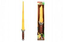 Meč pirát plast +/-80cm na baterie se světlem se zvukem