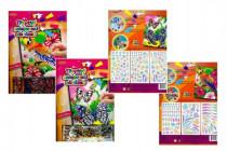 Třpytivý/zářivý nalepovací obrázek 20,3x25,4cm - mix variant či barev