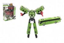Transformer autobus/robot plast 17cm - mix barev