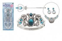 Sada krásy velká plast korunka + náhrdelník + naušnice + žezlo