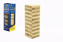 Hra Jenga věž přírodní dřevo 48ks hlavolam