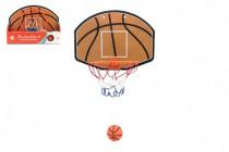 Koš na basketbal s doplňky 34x25 plast průměr 19cm