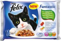 Felix cat kaps.-Fant.Multipack mas.výběr +zelen. 4 x 100 g