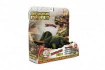 Dinosaurus plast 23-25cm na baterie se zvukem a světlem 2druhy