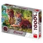 Puzzle Tygři 12 skrytých detailů 1000 dílků 66x47cm