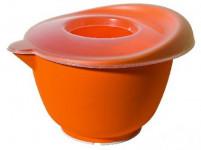 mísa šlehací s víkem 20cm (2,5l) plastová, s gumou - mix barev