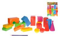 Stavebnice kostky velké 18ks plast v sáčku