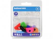 rozlišovač klíčů plastový (10ks) - mix barev